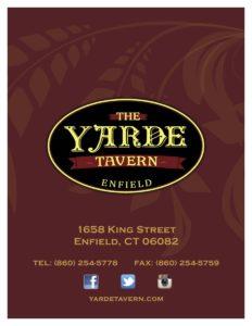 Food Menu Yarde Tavern 50 Beers On Tap Great Food 1658 King St